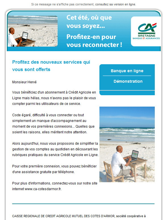 exemple cv credit agricole