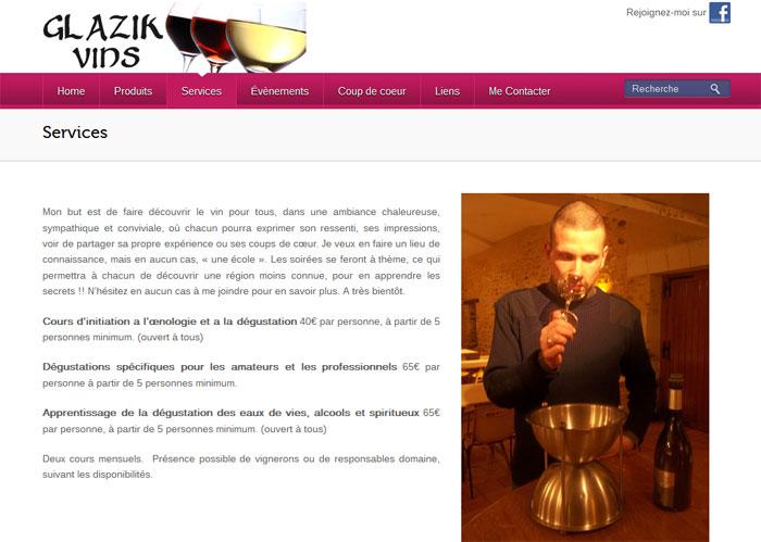 Glazik Vins - Page Services