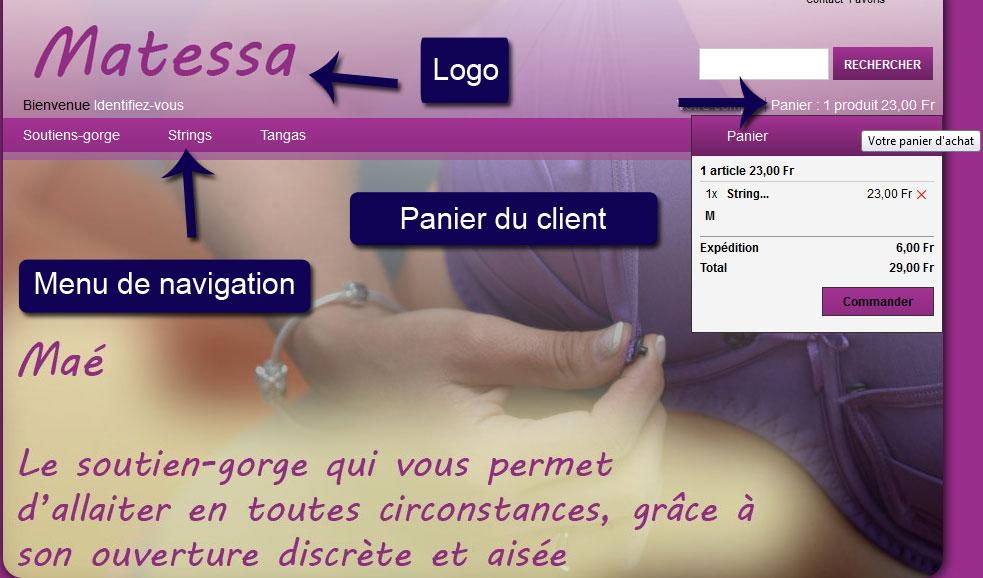 Présentation site internet