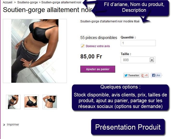Présentation site e-commerce