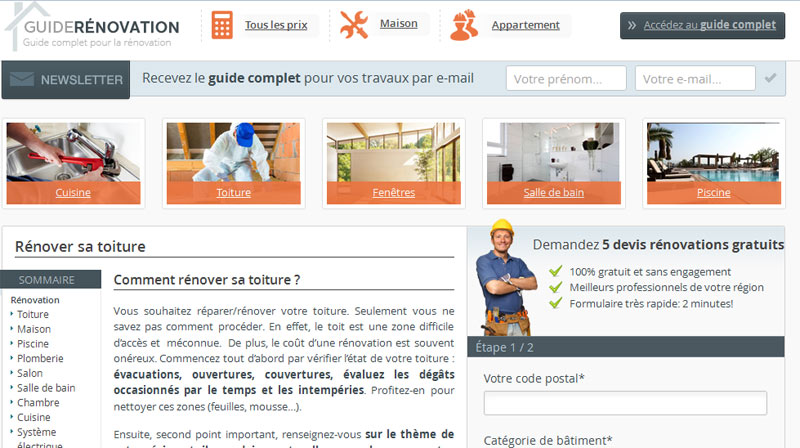 Guide Renovation : Guides et devis