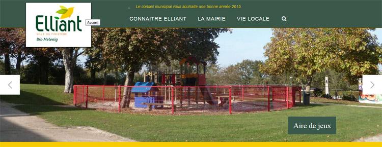 Refonte du site de la mairie d'Elliant